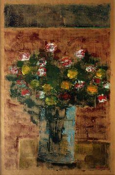 Ivan Marquetti vaso de flor - osp 1995 - 90 x 60