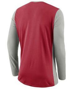 Nike Men s Ohio State Buckeyes Basketball Long Sleeve Shooter T-Shirt - Gray  XXL Ohio 2f312c897