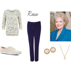 Golden Girls - Rose by jem85 on Polyvore featuring EAST, Keds, Forever 21 and ALDO
