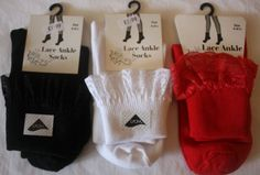 LADIES-LACE-FRILLY-ANKLE-SOCKS-GIRLS-VINTAGE-FASHION-BLACK-WHITE-RED-4-6-5