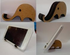 Stand Iphone cellphone elephant Keeper Holder CNC by projectCNC