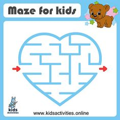 Easy mazes for kids - free printable ⋆ Kids Activities Mazes For Kids Printable, Free Printables, Kids Mazes, Maze Games For Kids, Preschool Activities At Home, Business For Kids, Coloring For Kids, Funny Kids, Easy