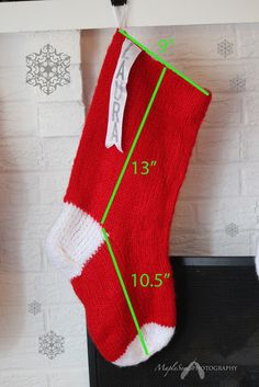 MapleSeeds Header: Pattern: Giant Knitted Christmas Stocking