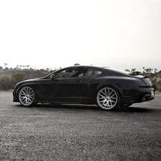 "A Bentley GT sitting on 22"" Liquid Silver Zito Wheels"