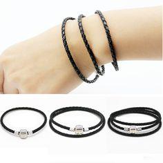 New Original Charm Silver Plated Genuine Leather bracelet for Women DIY Jewelry Fit Original pandora Bracelets Pulseira Gfit hot