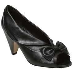 SALE - Madden Girl Tolsen Cone Heels Womens Black Leather - Was $45.00 - SAVE $15.00. BUY Now - ONLY $29.99.