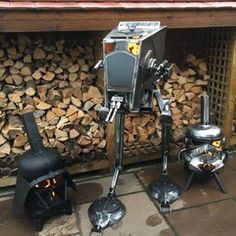 Take a look at our gallery to see the wood burners that we've created over the last three years. Call 01226 987974 for further information. Metal Fire Pit, Cool Fire Pits, Outdoor Wood Burner, Outdoor Pavillion, Sheet Metal Art, Stove Heater, Multi Fuel Stove, Car Part Furniture, Metal Projects