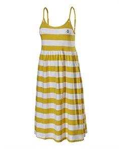 Angelika  Dress bright yellow/white