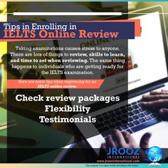 An IELTS online review is a new way in training IELTS test candidates for the real examination. #jroozinternational #ielts #ieltsonlinereview #ieltstest #ieltspreparation #ieltsonlinetraining #ieltsonlinecoaching #ieltstestpractice