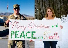 Merry Christmas and Peace on Earth!  Military Christmas card ideas! :)