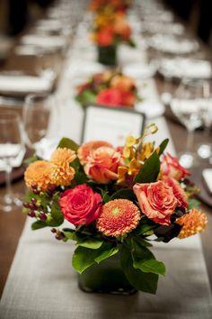 Roses + Dahlias   Country chic   Wedding centerpieces   Viera Photographics