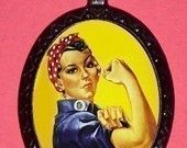 Rosie the Riveter Diy Necklace Feminist WWII 2nd Wave