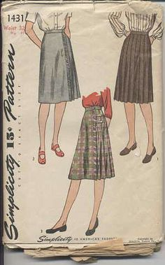 1940s skirt sewing patterns