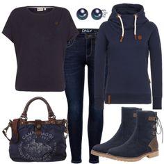 DarkGrey Outfit - Freizeit Outfits bei FrauenOutfits.de