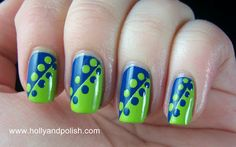 Holly and Polish: Tape and Dot Manicure