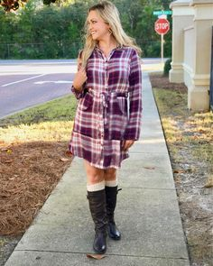 """404 Likes, 6 Comments - The Legal Blonde Blog (@thelegalblondeblog17) on Instagram: """"Loving this gorgeous plaid dress from @buckle! It is the perfect length and so comfortable! The…"""""""