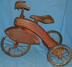 1930s Mercury Streamlined Modern Fendered Tricycle
