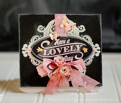 Chalkboard card using @JustRites new Birthday Vintage Labels Four set.