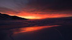 Evening landscape over the sea ice in northeast Greenland (Credit: Morten Hilmer)