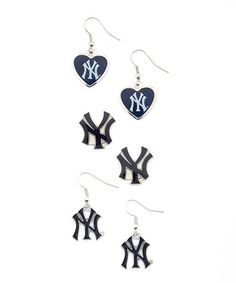 Love this New York Yankees Fan Earrings Set on #zulily! #zulilyfinds