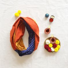 Boho Infinity Scarf - Multi-Colour from Pomogrenade