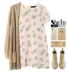 Shein: Loose Cardigan Sweater by emilypondng on Polyvore featuring Casetify, Muji and shein