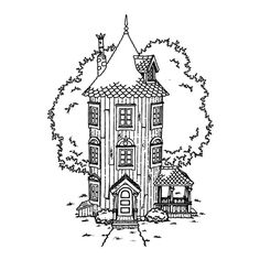 Welcome to Moominvalley - the official home of the Moomins Moomin Tattoo, Little My Moomin, Moomin House, House Doodle, Bujo Doodles, Moomin Valley, Tove Jansson, House Illustration, Illustrations