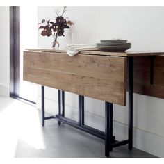 A Modern Drop Leaf Expandable Console Table That Converts
