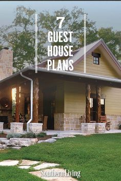 We've rounded up some of the dreamiest guest cottages from our Southern Living House Plans collection that provide all the comforts of a home away from home. #guesthouseplans #guesthouselayout #southernlivinghouseplans #southernliving Guest House Plans, Southern Living House Plans, Cozy Cottage, Home And Away, Cottages, Layout, How To Plan, Architecture, Outdoor Decor
