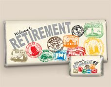 Personalized Retirement Favors: Passport to Adventure HERSHEY'S Candy Bars
