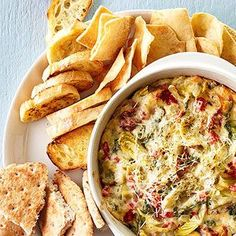 Asiago-Artichoke Dip From Better Homes and Gardens, ideas and improvement projects for your home and garden plus recipes and entertaining ideas.