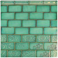 "EliteTile Antiqua 3"" x 6"" Ceramic Tile in Feelings Lava Verde"