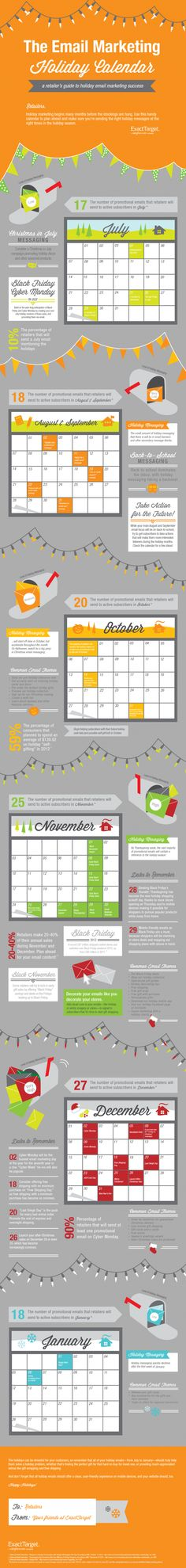 The Email Marketing Holiday Calendar #infographic