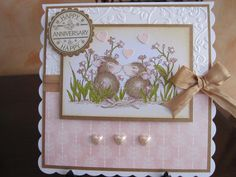 House Mouse Wedding Anniversary by Michele G - Cards and Paper Crafts at Splitcoaststampers Anniversary Cards, Wedding Anniversary, House Mouse Stamps, Engagement Cards, Prim Christmas, Mothers Day Cards, Card Making Inspiration, Pretty Cards, Copics