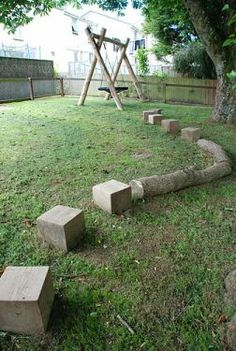 Playground Build & Design | Natural Child Play | Earth Wrights Ltd |Stepping Stones