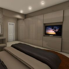 Resultado de imagen para fitted wardrobes bedroom tv