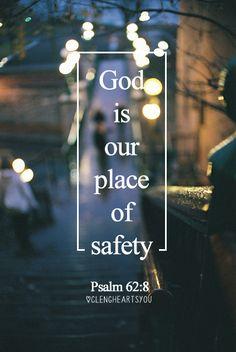 Salmos 62:8 Esperad en él en todo tiempo, oh pueblos; derramad delante de él vuestro corazón; Dios es nuestro refugio. ♔