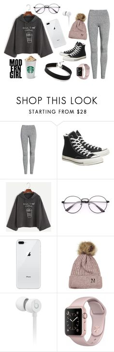 """""""Coffee"""" by hschommer ❤ liked on Polyvore featuring Treasure & Bond, Converse, Beats by Dr. Dre and Express"""