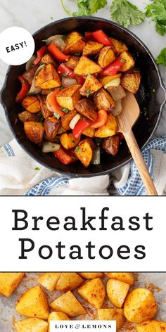 The BEST breakfast potatoes! A perfect side dish for breakfast or brunch, these roasted breakfast potatoes are crispy on the outside, creamy in the middle, and seasoned to perfection with smoky, savory spices. | Love and Lemons #potatoes #breakfastpotatoes #brunch #sidedish Breakfast Potatoes Easy, Easy To Make Breakfast, Sweet Breakfast, Potato Dishes, Potato Recipes, Brunch Recipes, Breakfast Recipes, Brunch Ideas, Vegetarian Recipes