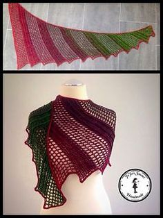 Lizard - free crochet shawl pattern in German with charts by Jasmin Räsänen / Jojassuomi.: