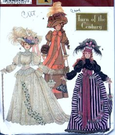 """Vintage Pattern Emporium - 11 1/2"""" Barbie Doll Turn Of The Century Clothes Pattern Simplicity 9522, $24.90 (http://www.vintagepatternemporium.com/11-1-2-barbie-doll-turn-of-the-century-clothes-pattern-simplicity-9522/)"""