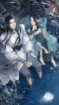 Studio Ghibli Characters, Manga Characters, Romantic Anime Couples, Cute Anime Couples, Anime Couples Drawings, Anime Couples Manga, Chinese Drawings, Chinese Art, Fantasy Art Angels
