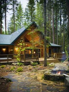 Evergreen Lodge, an historic Yosemite hotel nestled in the woods bordering Yosemite National Park.