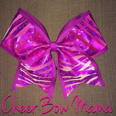 Fuchsia Zebra Cheer Bow by CheerBowMama on Etsy https://www.etsy.com/listing/184751609/fuchsia-zebra-cheer-bow