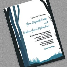 FREE PDF Templates. Rustic Woods for Country or Winter Weddings. Easy to edit and print at home.