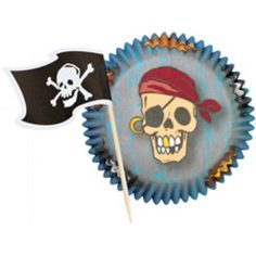 Pirate Cupcake Combo Pack | 24ct for $2.07 in Pirate - Theme Parties - Theme & Event Parties