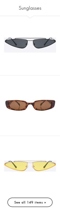 """""""Sunglasses"""" by klayvic ❤ liked on Polyvore featuring accessories, eyewear, sunglasses, metal frame sunglasses, lens glasses, metal frame glasses, clear, cat-eye glasses, orange tinted glasses and clear cat eye sunglasses"""