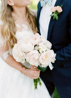 bce9e83b132ef Traditional Pink Peony-Filled Spring Vermont Wedding. This sweet and ...