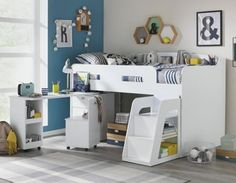 Buy Ultimate Storage Midsleeper - White at Argos.co.uk, visit Argos.co.uk to shop online for Children's beds, Children's beds