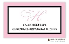 Stacy Claire Boyd | Simple Frame-Peony Calling Card